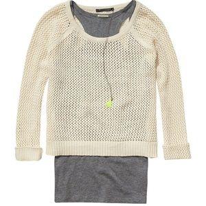 Maison Scotch & Soda Cream Knit Sweater